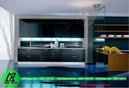 Thiết kế  mẫu tủ bếp acrylic đẹp kiểu chữ I