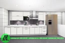 Tủ bếp Acrylic trắng sang trọng
