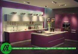 Thiết kế tủ bếp Acrylic cao cấp cho  biệt thự đẹp