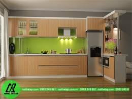 Tủ bếp gỗ Laminate chất liệu bền đẹp