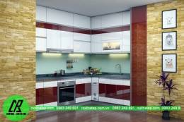 Tủ bếp gỗ nhựa Picomat bền đẹp sang trọng