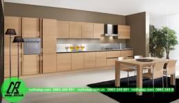 Mẫu thiết kế tủ bếp Laminate đẹp chữ I thanh  thoát