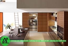 Tủ bếp gỗ nhựa picomat dáng đứng đơn giản