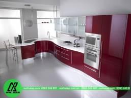 Tủ bếp gỗ acrylic 1