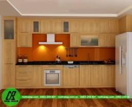 Tủ bếp gỗ sồi Nga 1