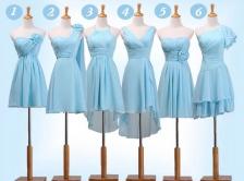 Váy ngắn phù dâu màu xanh
