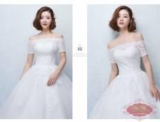 Váy cưới ren có tay