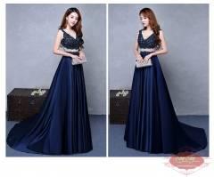 Váy dạ hội màu xanh đen