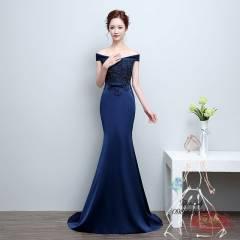 Váy dạ hội dự tiệc màu xanh đen