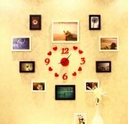 Bộ 10 khung nhựa composite kèm đồng hồ love ( thay bằng đồng hồ 4 số )