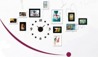MS KD4 - bộ khung ảnh Composite kèm đồng hồ