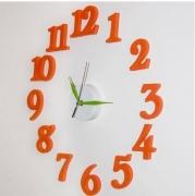 Đồng hồ DIY số to nghiêng màu cam