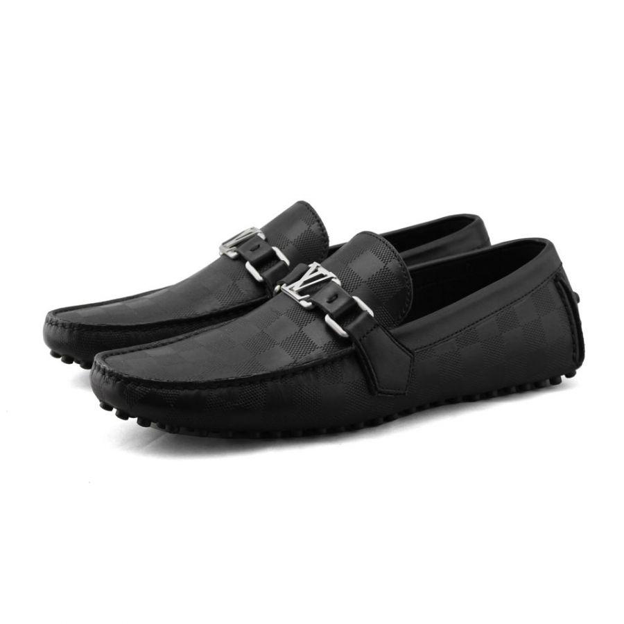 Giày LV Hockenheim Moccasin đen siêu cấp GN50