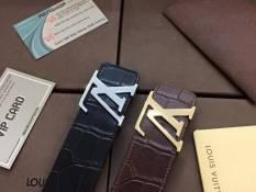 Thắt lưng nam Louis Vuitton hàng siêu cấp dây  da vân cá sấu