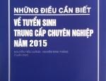 Công bố Những điều cần biết về tuyển sinh TCCN