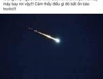 Vệt sáng trên trời gây tiếng nổ tại Hà Tĩnh: Đang xác minh thông tin