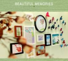 Bộ 10 khung ảnh kèm bướm 3D KA089
