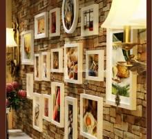 Bộ 17 khung ảnh gỗ cao cấp KA103