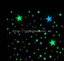 Sao dạ quang 9cm (set 10c)