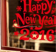 Decal Happy New Year 2016