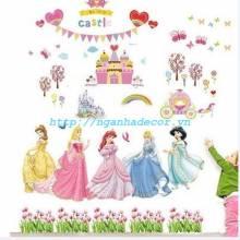 Decal Công chúa Disney và Lâu đài bánh kem