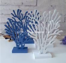 Bộ ba cây san hô gỗ trang trí