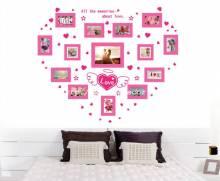 Decal dán tường Khung ảnh trang trí Love