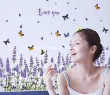 Decal hàng rào Lavender