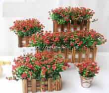 Hàng rào hoa gỗ nâu