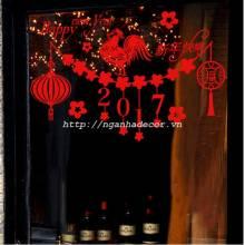 Decal Dây treo trang trí Tết Đinh dậu (size lớn)
