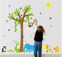 Decal dán tường Vườn thú số 35