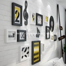 Bộ 12 khung ảnh gỗ kèm họa tiết cao cấp