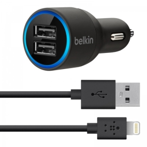 Belkin 2 - Port Car Changer + Sync for Iphone/Ipad/Ipod