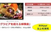 Sharp ra mắt màn hình 5,5 inch độ phân giải 4K nét nhất thế giới
