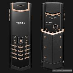 Vertu Signature S Pure Black Mix Red Gold