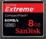 SanDisk CompactFlash Extreme 60MB/s 8GB