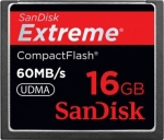 SanDisk CompactFlash Extreme 60MB/s 16GB