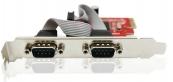 Card PCI-E to RS232 2Port Unitek Y-7504