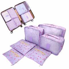 Sét 6 túi du lịch cherry chống thấm cao cấp NX6834