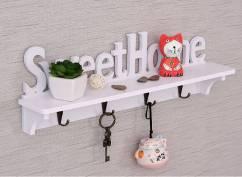 Móc treo tường kèm kệ để đồ Sweet Home NX302