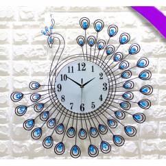 Đồng hồ trang trí khổng tước vương quyền NX883