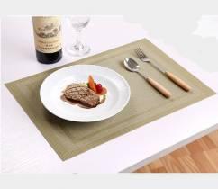 Tấm lót bàn ăn viền đôi sang trọng màu vàng cốm NX207
