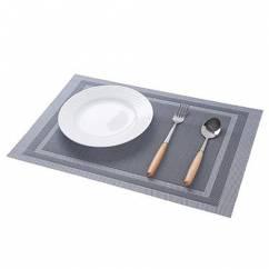 Tấm lót bàn ăn viền sang trọng màu xám NX207-1