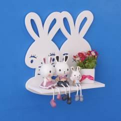 Kệ trang trí treo tường để đồ hình thỏ đáng yêu NX211