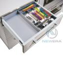 Khay chia thìa dĩa NewEra inox 304 khoang tủ sâu 450mm