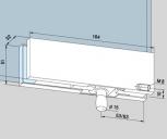 Kẹp kính bản lề sàn Dorma PT30
