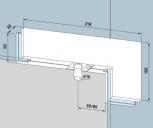 Kẹp kính bản lề sàn Dorma PT40