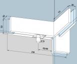 Kẹp kính bản lề sàn Dorma PT41