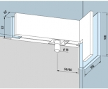 Kẹp kính bản lề sàn Dorma PT42