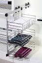 Khung rổ giá để quần áo, khăn, chăn màn NewEra 3 tầng